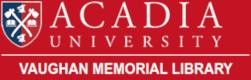 Acadia University: Vaughan Memorial Library