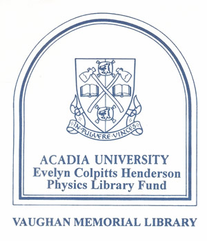 Evelyn Colpitts Henderson Physics Library Fund