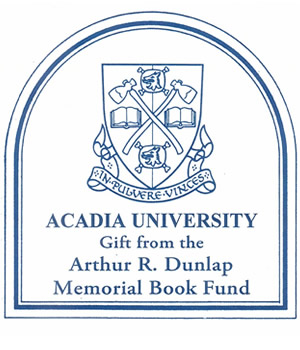 Arthur R. Dunlap Memorial Book Fund