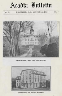 Acadia Alumni Bulletin