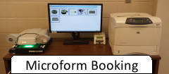 Book the microform reader